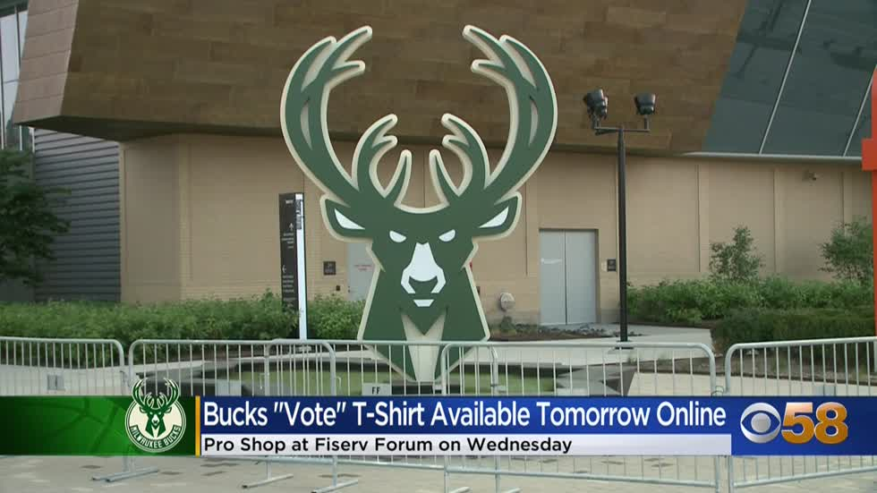 Milwaukee Bucks to introduce new 'Bucks Vote' T-shirt benefiting...